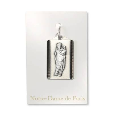Our Lady of the Pillar medal, rectangular