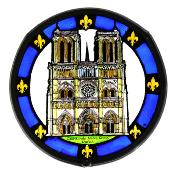 Cathedral Stained Glass Window, small size