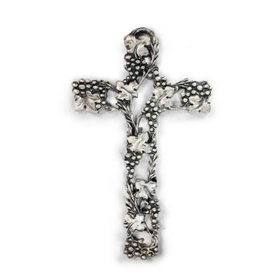 Silver-plated Vine Cross